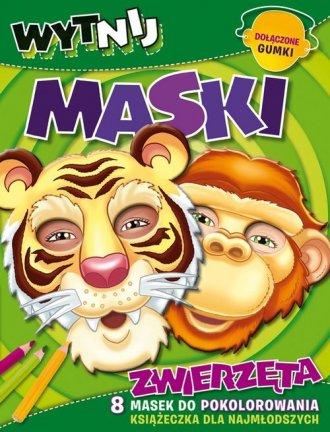 Zwierzęta. Wytnij maski - okładka książki