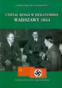 Udział Rosji w hekatombie Warszawy - okładka książki