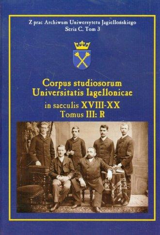Corpus studiosorum Universitatis - okładka książki