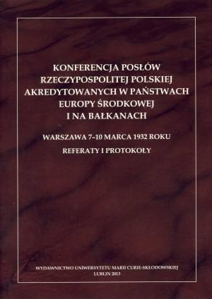 Konferencja posłów Rzeczypospolitej - okładka książki