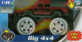 Monster truck 4x4 z dźwiękiem (czerwony) - zdjęcie zabawki, gry