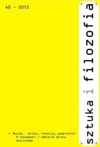 Sztuka i filozofia nr 40/2012 - okładka książki