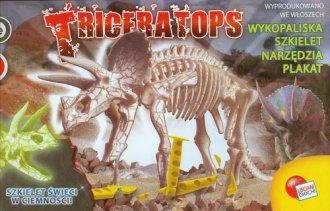 Triceratops. Szkielet świeci w - zdjęcie zabawki, gry