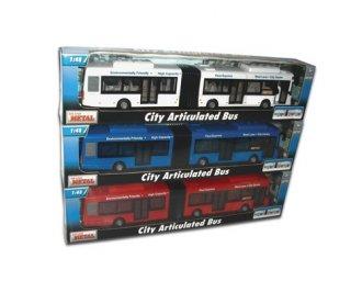 Autobus przegubowy (biały) - zdjęcie zabawki, gry