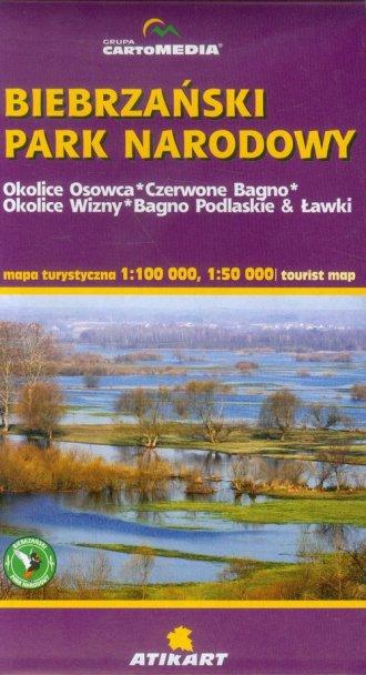 Biebrzański Park Narodowy mapa - okładka książki
