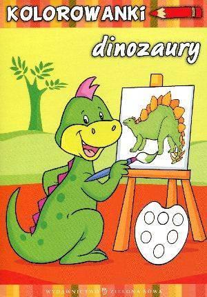 Dinozaury. Kolorowanki - okładka książki