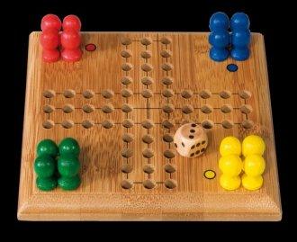 Gra planszowa Chińczyk (bambus) - zdjęcie zabawki, gry