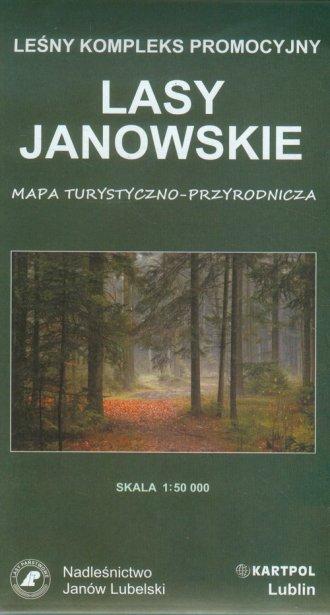 Lasy Janowskie mapa turystyczno-przyrodnicza - okładka książki