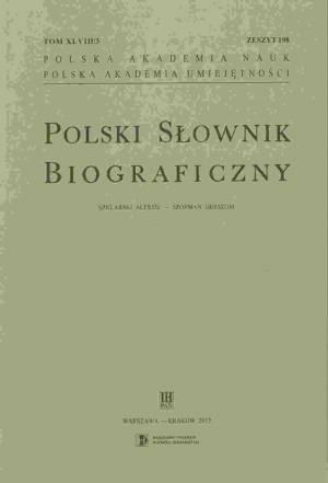 Polski Słownik Biograficzny. Tom - okładka książki