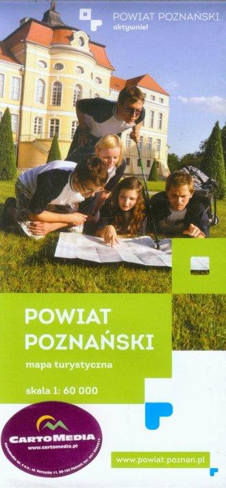 Powiat Poznański mapa turystyczna - okładka książki
