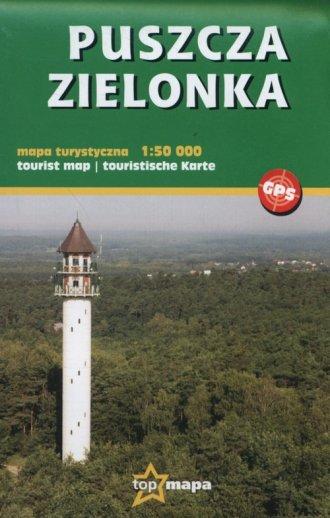 Puszcza Zielonka mapa turystyczna - okładka książki