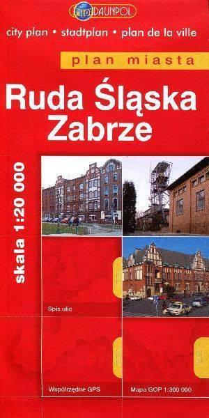 Ruda Śląska. Zabrze. Plan miasta - okładka książki