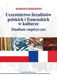 Uczestnictwo licealistów polskich - okładka książki