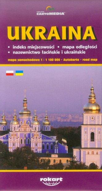 Ukraina mapa samochodowa (skala - okładka książki