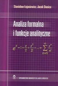 Analiza formalna i funkcje analityczne - okładka książki