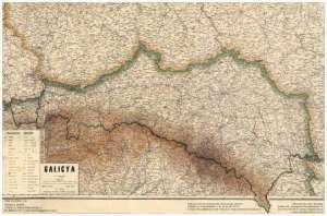 Galicya - mapa (w tubie) - zdjęcie reprintu, mapy