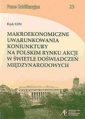 Makroekonomiczne uwarunkowania - okładka książki