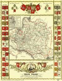 zdjęcie reprintu, mapy - Mapa Polski za panowania króla