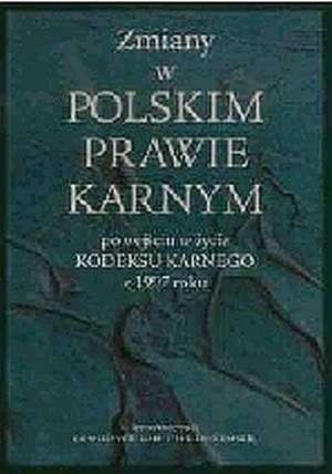 Zmiany w polskim prawie karnym - okładka książki