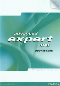 Advanced Expert cae coursebook (  CD ROM) - okładka książki
