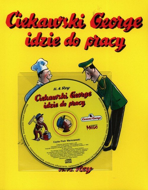 Ciekawski George idzie do pracy - okładka książki