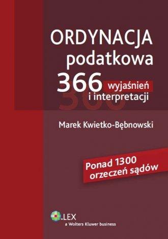Ordynacja podatkowa. 366 wyjaśnień - okładka książki
