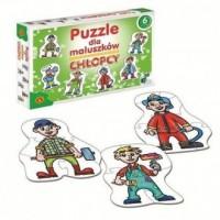 Puzzle dla maluszków. Chłopcy - zdjęcie zabawki, gry