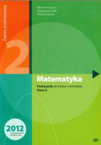 Matematyka 2. Liceum, technikum. - okładka podręcznika
