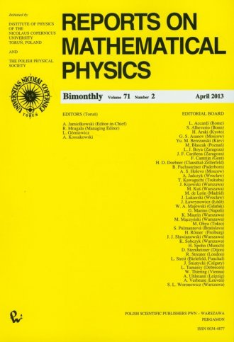 Reports on Mathematical Physics - okładka książki
