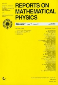 Reports on Mathematical Physics - okładka książki