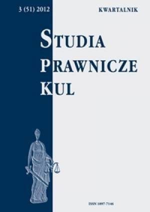 Studia prawnicze KUL, 3(51)/2012 - okładka książki