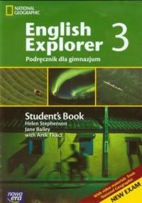 English Explorer 3. Podręcznik z zeszytem gramatyczno-leksykalnym (+ CD). Gimnazjum - okładka podręcznika