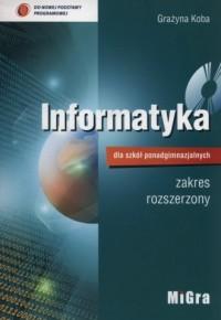 Informatyka. Szkoła ponadgimnazjalna. Podręcznik metodyczny. Zakres rozszerzony - okładka podręcznika
