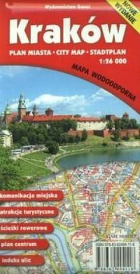 Kraków plan miasta (skala 1:26 - okładka książki