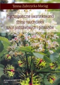 Psychospołeczne uwarunkowania stresu - okładka książki