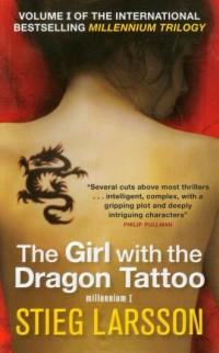 The Girl with the Dragon Tattoo - okładka książki