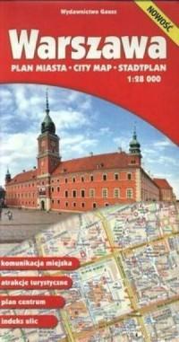 Warszawa plan miasta (skala 1:28 - okładka książki
