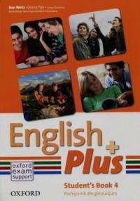 English Plus 4A. Gimnazjum. Podręcznik - okładka podręcznika