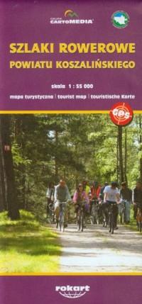 Szlaki rowerowe powiatu koszlińskiego mapa turystyczna - okładka książki