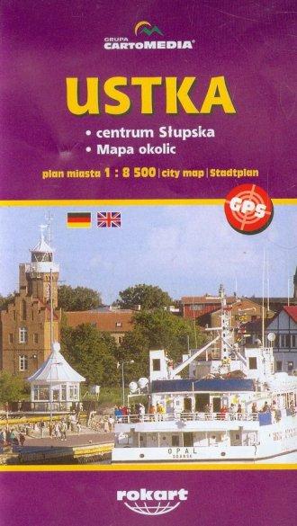 Ustka (plan miasta) - okładka książki