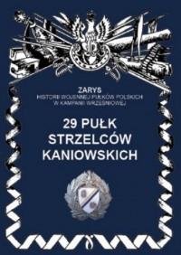 29 Pułk Strzelców Kaniowskich. - okładka książki