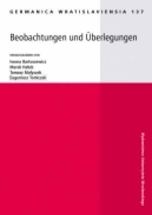 Germanica Wratislaviensia 137. - okładka książki