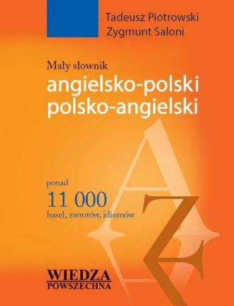Mały słownik angielsko-polski, - okładka podręcznika
