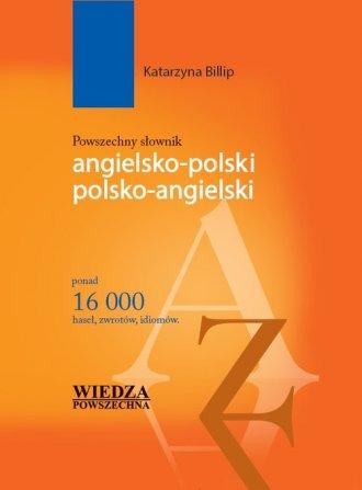 Powszechny słownik angielsko-polski, - okładka podręcznika