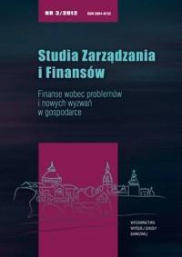 Studia Zarządzania i Finansów nr - okładka książki