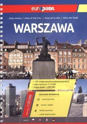 Warszawa. Europilot. Atlas miasta - okładka książki