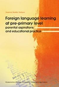 Foreign language learning at pre-primary - okładka książki