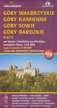 Góry Wałbrzyskie, Kamienne, Sowie, - okładka książki