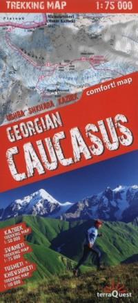 Gruzja. Kaukaz. Laminowana mapa - okładka książki
