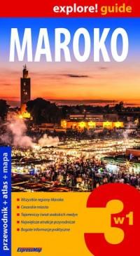 Maroko 3 w 1. Przewodnik + Atlas - okładka książki
